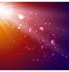 Lights in cosmos background bokeh effect vector