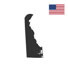 map of the us state of delaware vector image