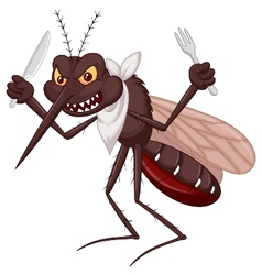 Mosquito cartoon ready for eat vector image