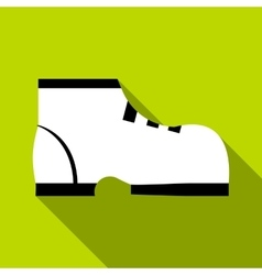 One boot icon flat style vector