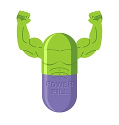 Power pills Tablets for bodybuilding Medication vector image vector image