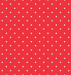red background polka fabric with white little dots vector image vector image