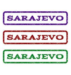 sarajevo watermark stamp vector image
