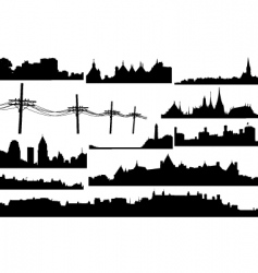 skylines vector image vector image