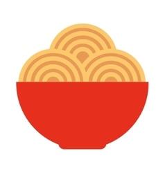 spaghetti dish isolated icon vector image vector image