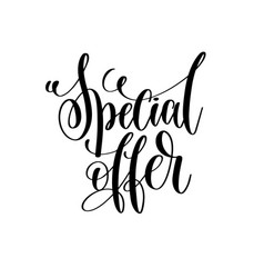 special offer - black and white hand lettering vector image