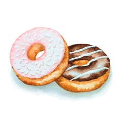 Watercolor donuts vector