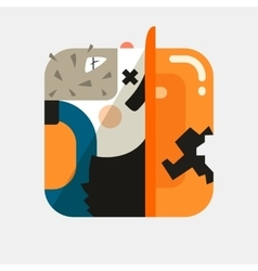 Worker avatar trendy icon in flat vector