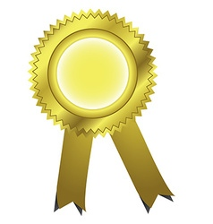 Gold ribbons award vector image