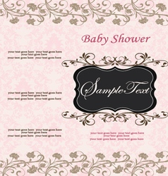 Baby shower announcement vector