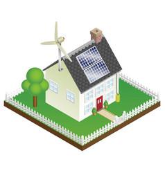 sustainable renewable energy house vector image