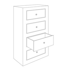 office cabinet outline drawing vector image