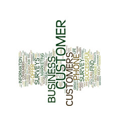 Five reasons to use customer phone surveys text vector