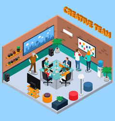 Team of creatives isometric vector