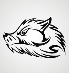 Boar head tattoo vector