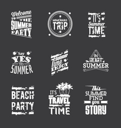 Set of summer holidays lettering vector