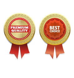 Premium Quality and Best choice Label eps 10 vector image