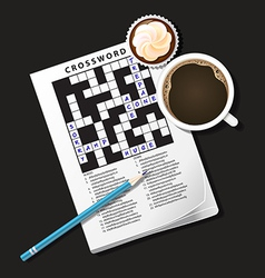 Crossword coffee3 vector