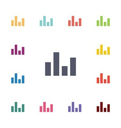 Equalizer flat icons set vector