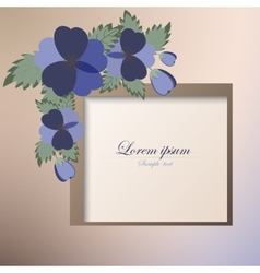 Template card with spring flowers vector