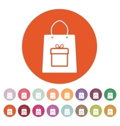 The shopping bag icon vector