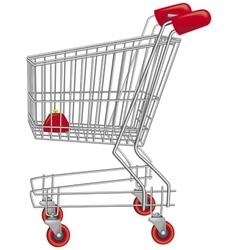 empty shopping cart vector image