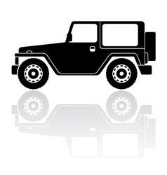 Offroad vehicle silhouette icon vector
