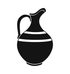 Ceramic jug black simple icon vector