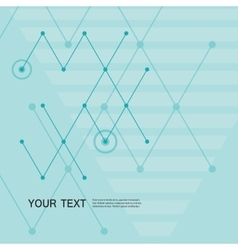 Abstract line and triangular design vector