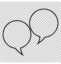 Speech bubble line icon vector