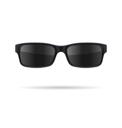 Sunglasses with black glasses on white background vector