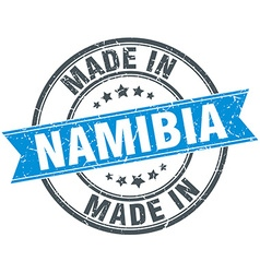 Made in namibia blue round vintage stamp vector