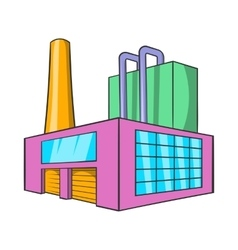 Large brewery icon cartoon style vector