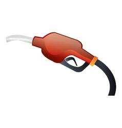Gasoline hand dispenser isolated icon vector
