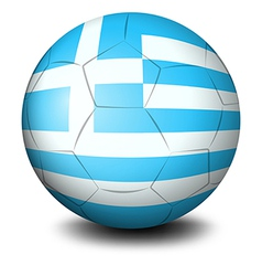 A soccer ball with the flag of Greece vector image vector image