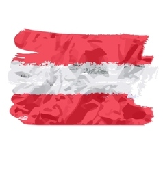 Austrian flag painted by brush hand paints art vector