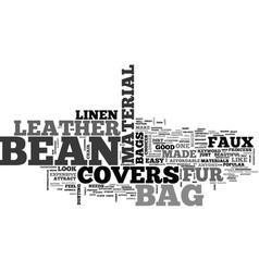 Bean bag covers text word cloud concept vector