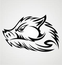 Boar Head Tattoo vector image
