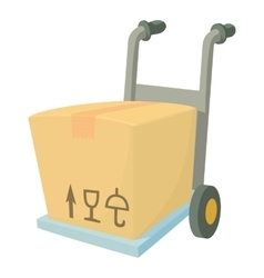 Carrying box icon cartoon style vector