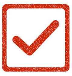 Checkbox grunge icon vector