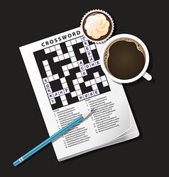 Crossword coffee3 vector