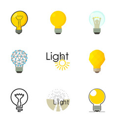 Different creative lightbulb icons set vector