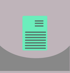 flat style blank realistic notepad notebook vector image vector image