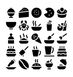 Food icons 13 vector