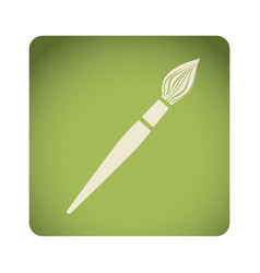Green emblem paint brush icon vector