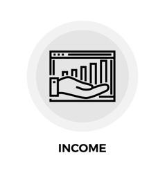 Income Line Icon vector image vector image