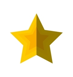 merry christmas star isolated icon vector image