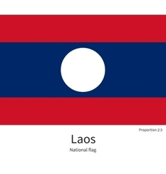 National flag of Laos with correct proportions vector image vector image