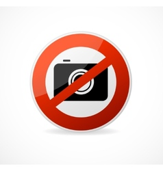 No photo camera sign isolated vector image