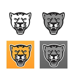 Panther head set vector image